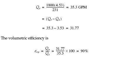 Pump hydraulic efficiency equation
